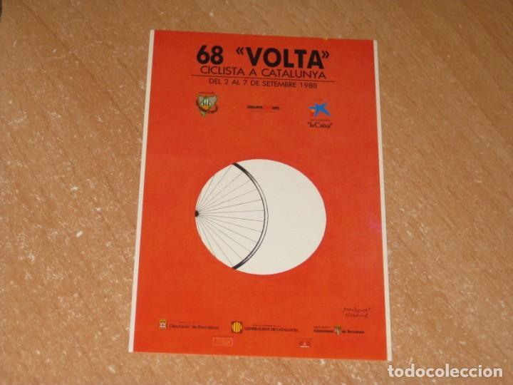 POSTAL DE VUELTA CICLISTA A CATALUÑA 1988 (Coleccionismo Deportivo - Postales de otros Deportes )