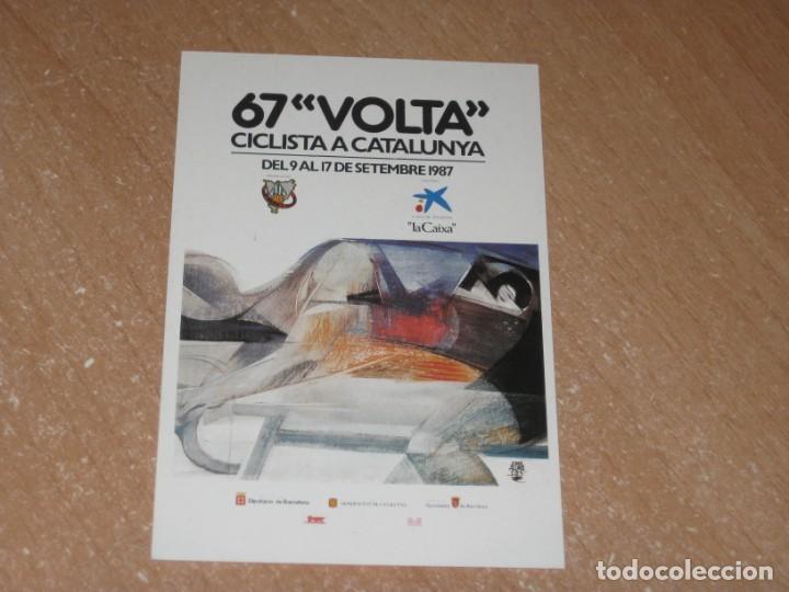 POSTAL DE VUELTA CICLISTA A CATALUÑA 1987 (Coleccionismo Deportivo - Postales de otros Deportes )