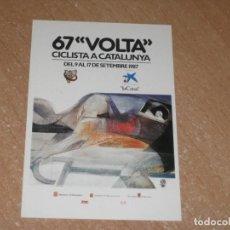 Coleccionismo deportivo: POSTAL DE VUELTA CICLISTA A CATALUÑA 1987. Lote 270237093