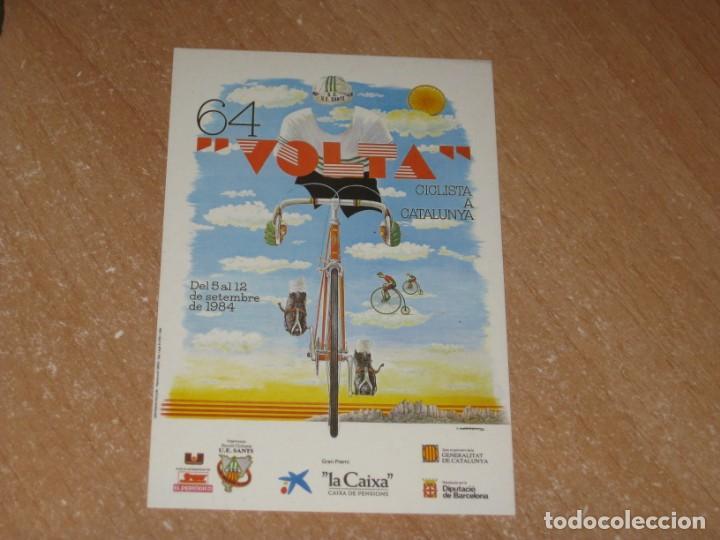 POSTAL DE VUELTA CICLISTA A CATALUÑA 1984 (Coleccionismo Deportivo - Postales de otros Deportes )