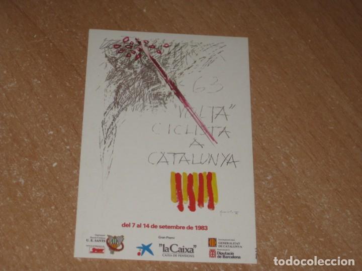 POSTAL DE VUELTA CICLISTA A CATALUÑA 1983 (Coleccionismo Deportivo - Postales de otros Deportes )