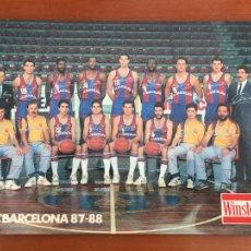 Coleccionismo deportivo: FUTBOL CLUB BARCELONA BALONCESTO POSTAL ORIGINAL PLANTILLA 1987-88 PUBLICIDAD WINSTON. Lote 272649123