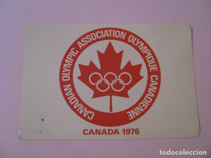 POSTAL DE CANADIAN OLYMPIC ASSOCIATION OLYMPIQUE CANADIENNE, CANADA 1976. PLASTICHROME (Coleccionismo Deportivo - Postales de otros Deportes )