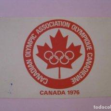 Coleccionismo deportivo: POSTAL DE CANADIAN OLYMPIC ASSOCIATION OLYMPIQUE CANADIENNE, CANADA 1976. PLASTICHROME. Lote 276155918