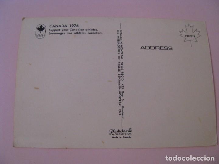 Coleccionismo deportivo: POSTAL DE CANADIAN OLYMPIC ASSOCIATION OLYMPIQUE CANADIENNE, CANADA 1976. PLASTICHROME - Foto 2 - 276155918