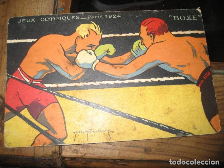 POSTAL JEUX OLYMPIQUES - PARIS 1924 - BOXE . JUEGOS OLIMPICOS BOXEO (Coleccionismo Deportivo - Postales de otros Deportes )