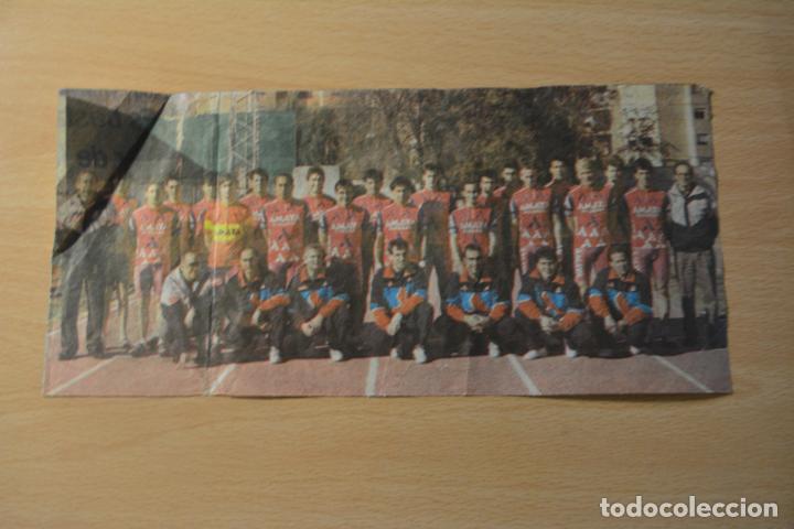 RECORTE DE PERIÓDICO DEPORTIVO DEL EQUIPO CILISTA AMAYA SEGUROS 1991 (Coleccionismo Deportivo - Postales de otros Deportes )