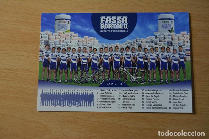 POSTAL DEL EQUIPO CICLISTA FASSA BORTOLO 2004 (Coleccionismo Deportivo - Postales de otros Deportes )