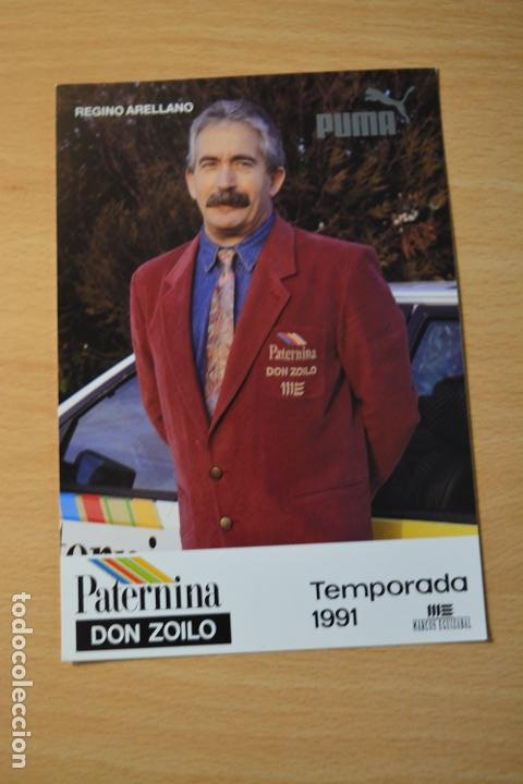 POSTAL DE REGINO ARELLANO DEL EQUIPO CICLISTA PATERNINA (Coleccionismo Deportivo - Postales de otros Deportes )