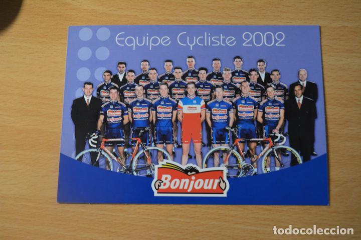 POSTAL DEL EQUIPO BONJOUR 2002 (Coleccionismo Deportivo - Postales de otros Deportes )