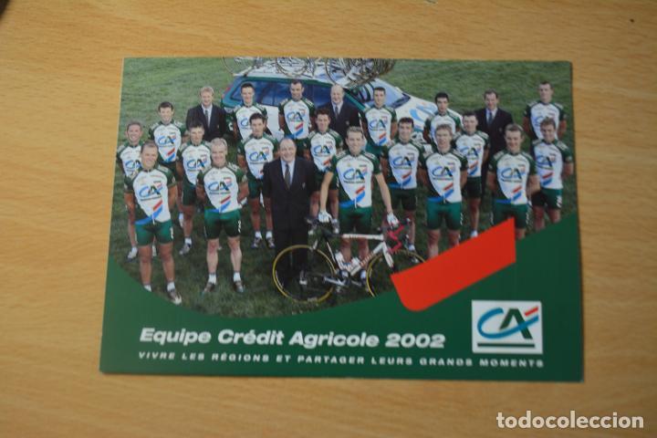 POSTAL DEL EQUIPO CREDIT AGRICOLE 2002 (Coleccionismo Deportivo - Postales de otros Deportes )