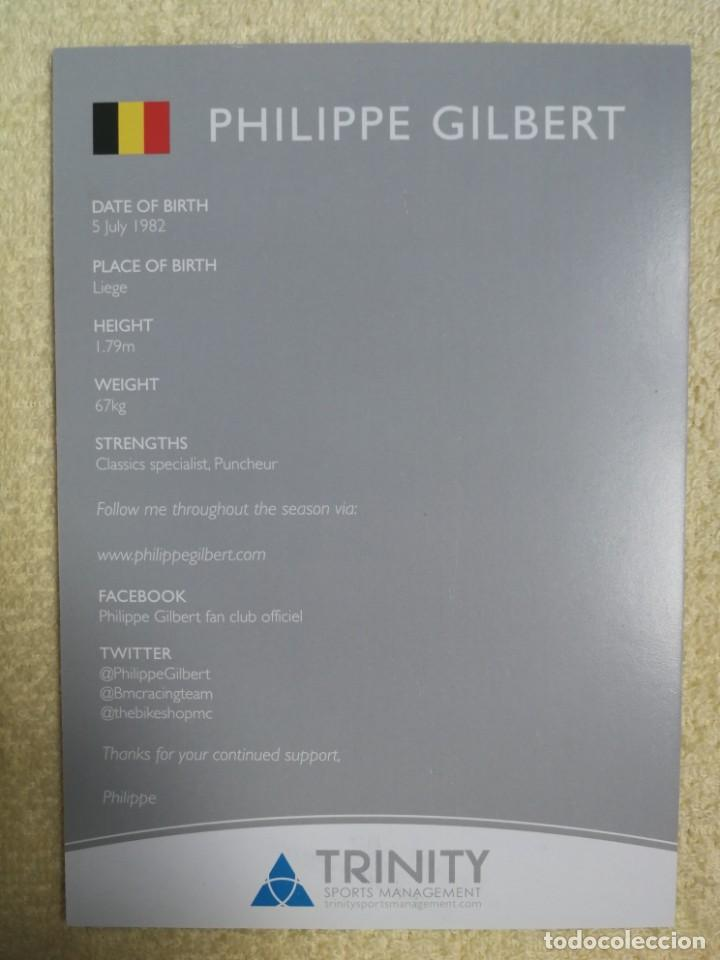 Coleccionismo deportivo: PHILIPPE GILBERT – FOTO PROMOCIONAL - Foto 2 - 276529418