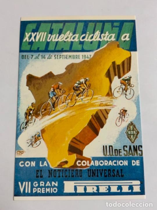 REPRODUCCION ANTIGUA POSTAL DE 20A VUELTA CICLISTA CATALUÑA - 1940. MIDE UNOS 15X10CM. IMPECABLE (Coleccionismo Deportivo - Postales de otros Deportes )