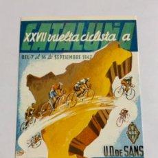 Coleccionismo deportivo: REPRODUCCION ANTIGUA POSTAL DE 20A VUELTA CICLISTA CATALUÑA - 1940. MIDE UNOS 15X10CM. IMPECABLE. Lote 276550843