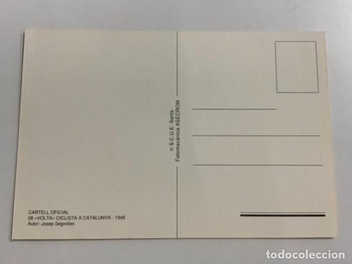 Coleccionismo deportivo: Reproduccion Antigua postal de 28a VUELTA CICLISTA CATALUÑA - 1948. Mide unos 15x10cm. IMPECABLE - Foto 2 - 276551338