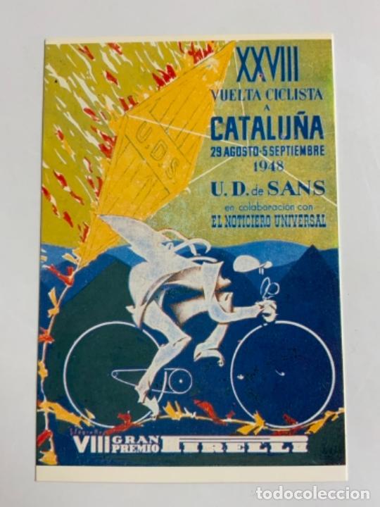 REPRODUCCION ANTIGUA POSTAL DE 28A VUELTA CICLISTA CATALUÑA - 1948. MIDE UNOS 15X10CM. IMPECABLE (Coleccionismo Deportivo - Postales de otros Deportes )