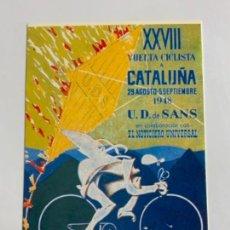 Coleccionismo deportivo: REPRODUCCION ANTIGUA POSTAL DE 28A VUELTA CICLISTA CATALUÑA - 1948. MIDE UNOS 15X10CM. IMPECABLE. Lote 276551338