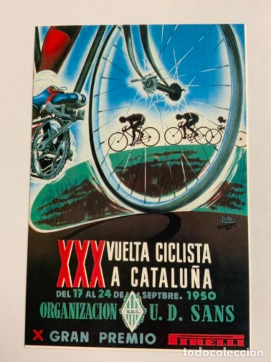 REPRODUCCION ANTIGUA POSTAL DE 30A VUELTA CICLISTA CATALUÑA - 1950. MIDE UNOS 15X10CM. IMPECABLE (Coleccionismo Deportivo - Postales de otros Deportes )