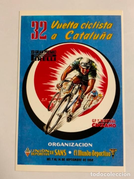 REPRODUCCION ANTIGUA POSTAL DE 32A VUELTA CICLISTA CATALUÑA - 1952. MIDE UNOS 15X10CM. IMPECABLE (Coleccionismo Deportivo - Postales de otros Deportes )