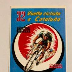 Coleccionismo deportivo: REPRODUCCION ANTIGUA POSTAL DE 32A VUELTA CICLISTA CATALUÑA - 1952. MIDE UNOS 15X10CM. IMPECABLE. Lote 276552438