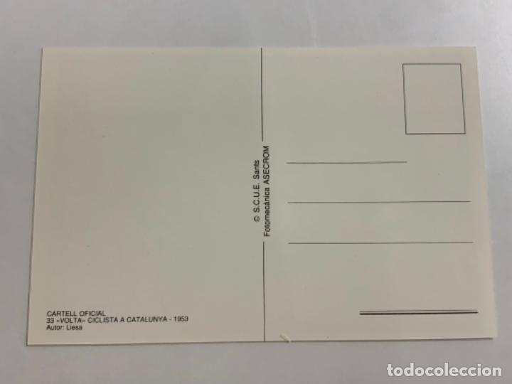 Coleccionismo deportivo: Reproduccion Antigua postal de 33a VUELTA CICLISTA CATALUÑA - 1953. Mide unos 15x10cm. IMPECABLE - Foto 2 - 276552538
