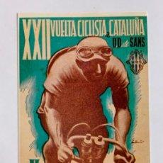 Coleccionismo deportivo: REPRODUCCION ANTIGUA POSTAL DE 22A VUELTA CICLISTA CATALUÑA - 1942. MIDE UNOS 15X10CM. IMPECABLE. Lote 276552698