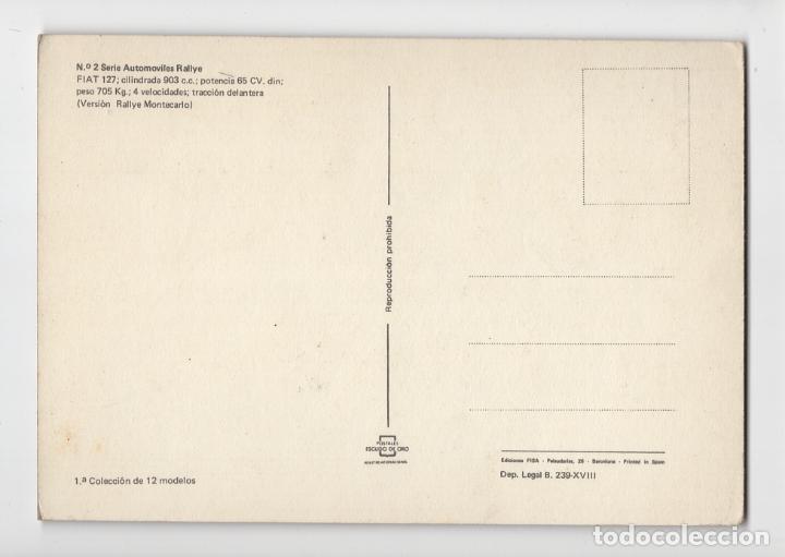 Coleccionismo deportivo: Nº 2 Automóviles Rallye. FIAT 127 ♦ Escudo de Oro, 1975 - Foto 2 - 276991343