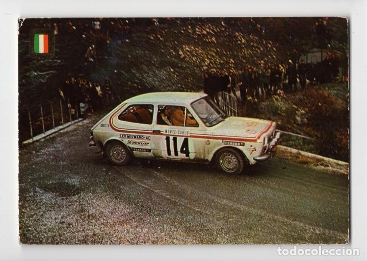 Nº 2 AUTOMÓVILES RALLYE. FIAT 127 ♦ ESCUDO DE ORO, 1975 (Coleccionismo Deportivo - Postales de otros Deportes )