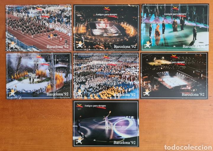 Coleccionismo deportivo: 16 Postales Colección Olímpica Barcelona 92 Momentos de la Ceremonia de Inauguración - Foto 4 - 277600838