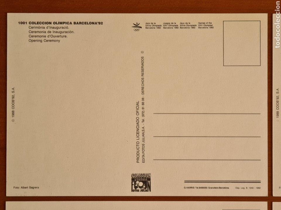 Coleccionismo deportivo: 16 Postales Colección Olímpica Barcelona 92 Momentos de la Ceremonia de Inauguración - Foto 3 - 277600838