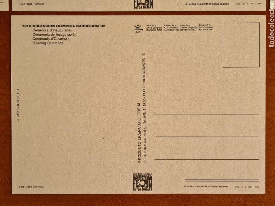Coleccionismo deportivo: 16 Postales Colección Olímpica Barcelona 92 Momentos de la Ceremonia de Inauguración - Foto 6 - 277600838