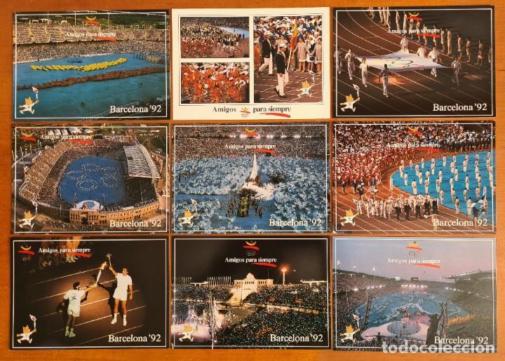 16 POSTALES COLECCIÓN OLÍMPICA BARCELONA 92 MOMENTOS DE LA CEREMONIA DE INAUGURACIÓN (Coleccionismo Deportivo - Postales de otros Deportes )