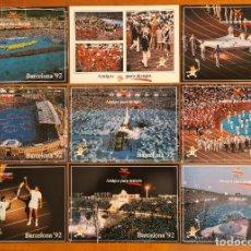 Coleccionismo deportivo: 16 POSTALES COLECCIÓN OLÍMPICA BARCELONA 92 MOMENTOS DE LA CEREMONIA DE INAUGURACIÓN. Lote 277600838