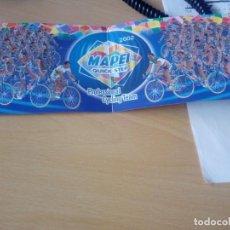 Coleccionismo deportivo: FOLLETO DEL EQUIPO CICLISTA MAPEO QUICK STEP 2002, CON TODOS LOS CICLISTAS. Lote 277761688