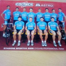 Coleccionismo deportivo: POSTAL DEL EQUIPO CICLISTA COLPACK ASTRO 2002. Lote 277763878