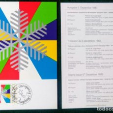 Coleccionismo deportivo: LIECHTENSTEIN 1988 POSTAL CONMEMORATIVA DE LOS JUEGOS OLIMPICOS SARAJEVO 1984 - OLIMPIADAS. Lote 278210523