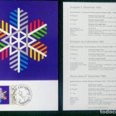 Coleccionismo deportivo: LIECHTENSTEIN 1988 POSTAL CONMEMORATIVA DE LOS JUEGOS OLIMPICOS SARAJEVO 1984 - OLIMPIADAS. Lote 278210533