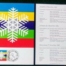 Coleccionismo deportivo: LIECHTENSTEIN 1988 POSTAL CONMEMORATIVA DE LOS JUEGOS OLIMPICOS SARAJEVO 1984 - OLIMPIADAS. Lote 278210538