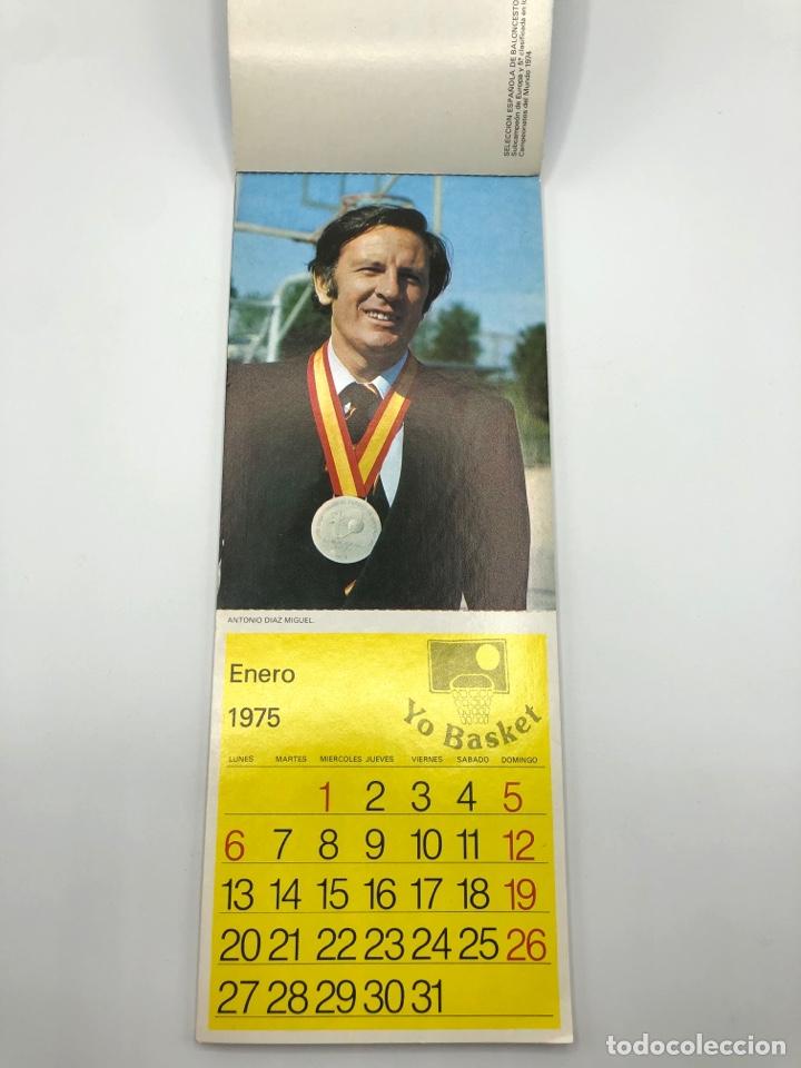 Coleccionismo deportivo: SELECCIÓN ESPAÑOLA DE BALONCESTO ESPAÑA CALENDARIO AÑO 1975-76 18 POSTALES POSTAL BASKET - Foto 2 - 278212553
