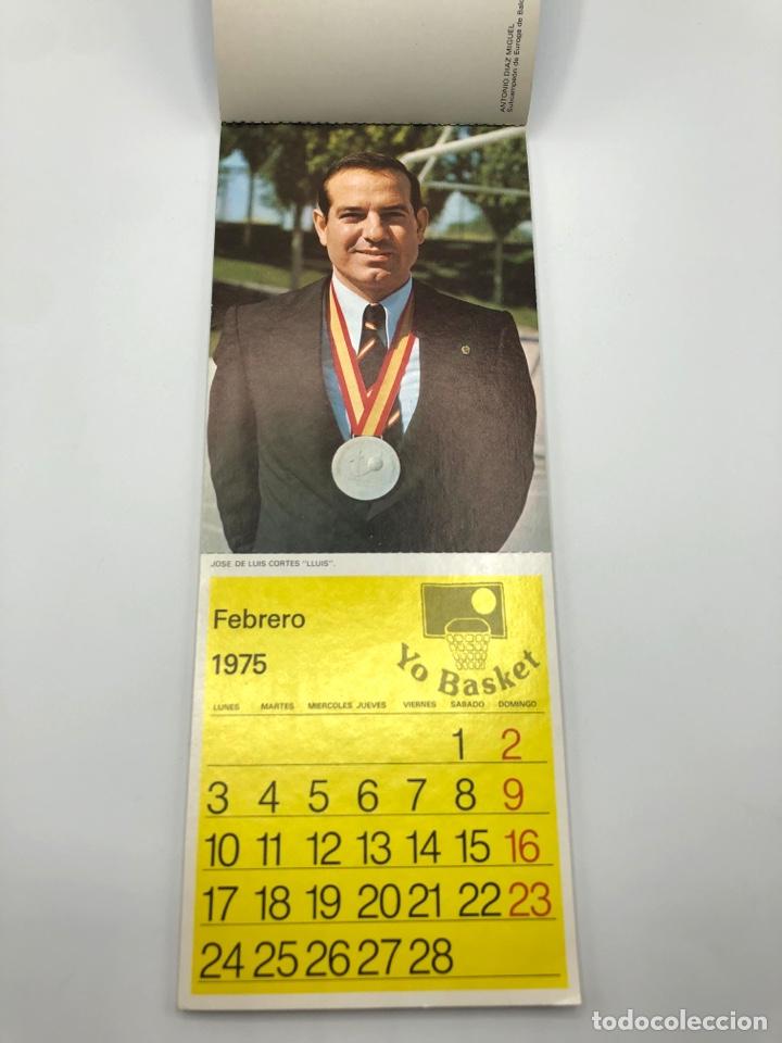 Coleccionismo deportivo: SELECCIÓN ESPAÑOLA DE BALONCESTO ESPAÑA CALENDARIO AÑO 1975-76 18 POSTALES POSTAL BASKET - Foto 3 - 278212553