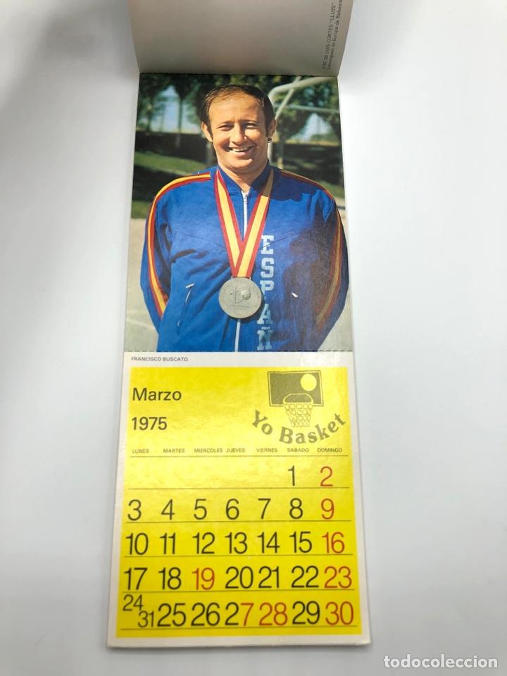 Coleccionismo deportivo: SELECCIÓN ESPAÑOLA DE BALONCESTO ESPAÑA CALENDARIO AÑO 1975-76 18 POSTALES POSTAL BASKET - Foto 4 - 278212553