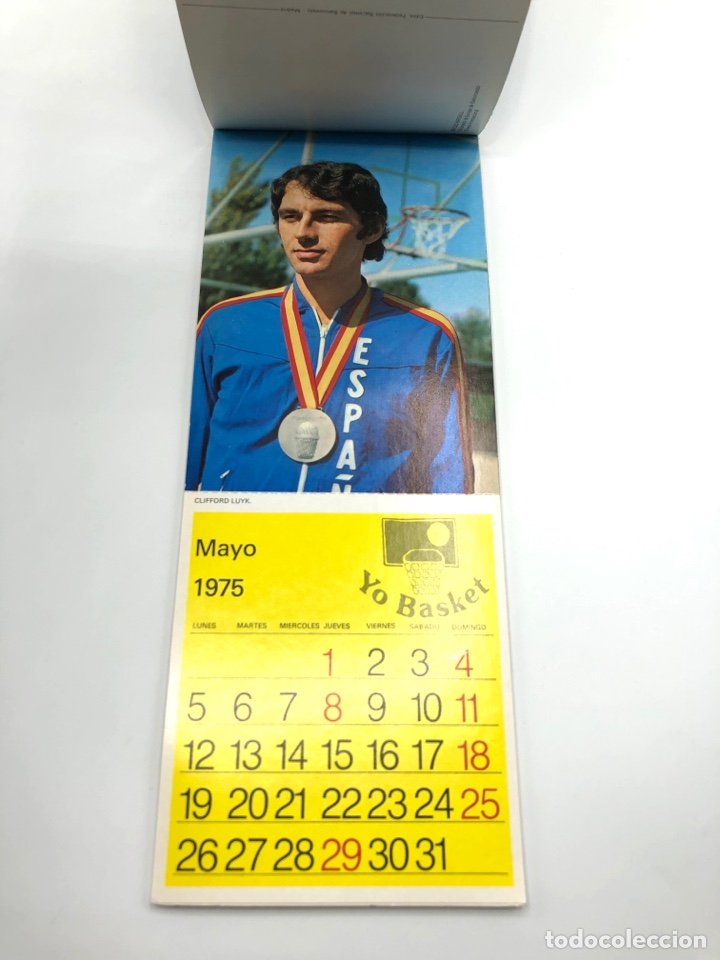 Coleccionismo deportivo: SELECCIÓN ESPAÑOLA DE BALONCESTO ESPAÑA CALENDARIO AÑO 1975-76 18 POSTALES POSTAL BASKET - Foto 6 - 278212553