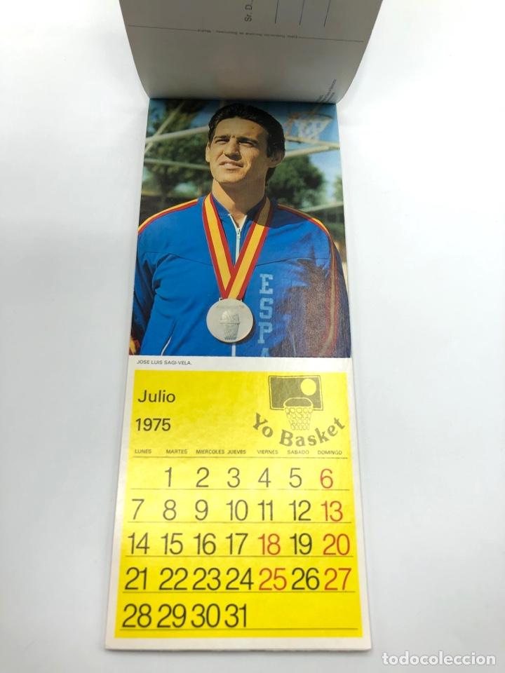 Coleccionismo deportivo: SELECCIÓN ESPAÑOLA DE BALONCESTO ESPAÑA CALENDARIO AÑO 1975-76 18 POSTALES POSTAL BASKET - Foto 8 - 278212553
