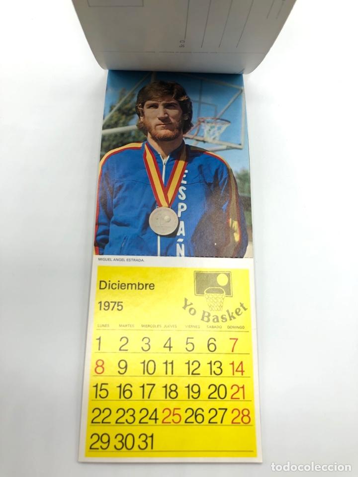 Coleccionismo deportivo: SELECCIÓN ESPAÑOLA DE BALONCESTO ESPAÑA CALENDARIO AÑO 1975-76 18 POSTALES POSTAL BASKET - Foto 13 - 278212553