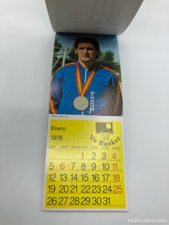 Coleccionismo deportivo: SELECCIÓN ESPAÑOLA DE BALONCESTO ESPAÑA CALENDARIO AÑO 1975-76 18 POSTALES POSTAL BASKET - Foto 14 - 278212553