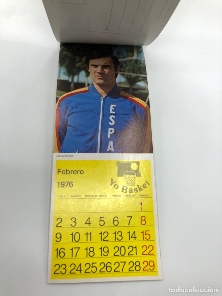 Coleccionismo deportivo: SELECCIÓN ESPAÑOLA DE BALONCESTO ESPAÑA CALENDARIO AÑO 1975-76 18 POSTALES POSTAL BASKET - Foto 15 - 278212553