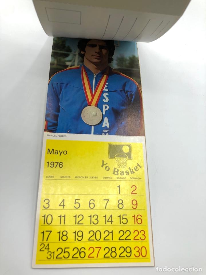 Coleccionismo deportivo: SELECCIÓN ESPAÑOLA DE BALONCESTO ESPAÑA CALENDARIO AÑO 1975-76 18 POSTALES POSTAL BASKET - Foto 18 - 278212553