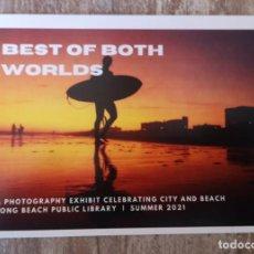 Coleccionismo deportivo: POSTAL PUBLICITARIA SURF 2021 EEUU LONG BEACH CALIFORNIA. Lote 278369103