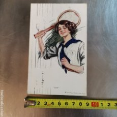 Coleccionismo deportivo: POSTAL DE TENISTA DE 1935, LOVE, DIRIGIDA A C. SANT PERE MÁRTIR 28 BARCELONA. MERCEDES BRUGUERA. Lote 278582543