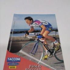 Coleccionismo deportivo: POSTAL PAOLO BOSSONI - TACCONI 2001.. Lote 279327643